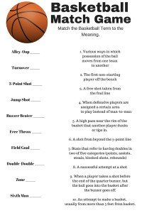 Basketball Match Game Free Printable - Sour Cream and Onion Loaded Nachos