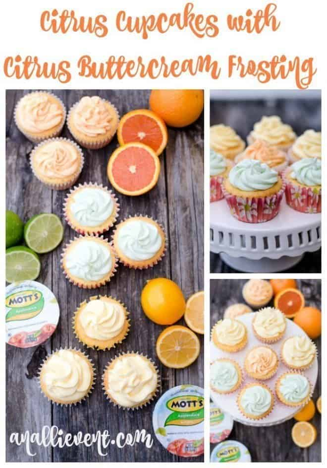 The frosting on these lemon, lime and orange cupcakes tastes like sherbet! I made all three flavors with one cake mix. My family voted these cupcakes the best ever!