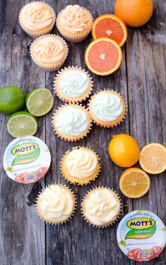 Lemon Blossoms and Church Cookbooks - Citrus Cupcakes