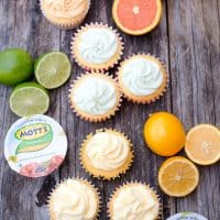 Citrus Cupcakes with Citrus Buttercream Frosting