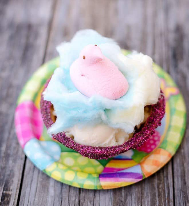 PEEPS Cotton Candy Easter Sundaes