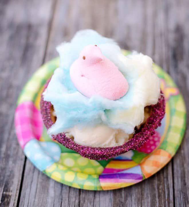 PEEPS Cotton Candy Easter Sundaes