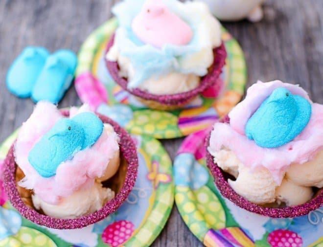 PEEPS Cotton Candy Easter Sundae