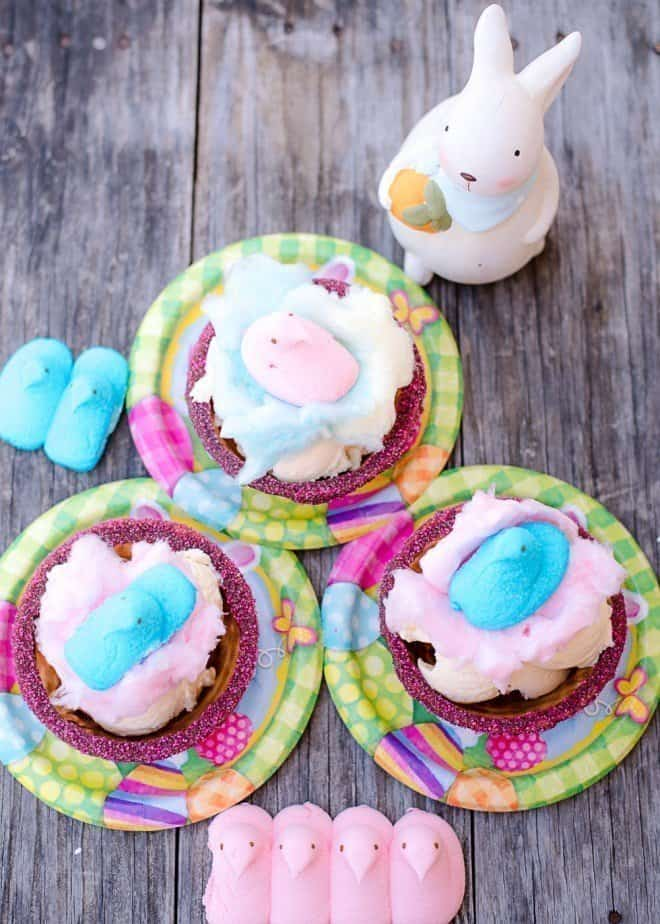 PEEPS Cotton Candy Sundaes