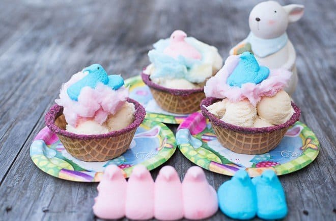 PEEPS Cotton Candy Easter Sundae