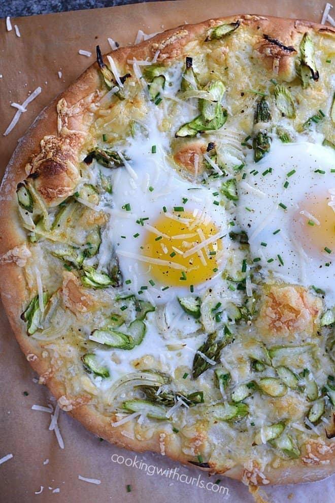 Happy Easter - Asparagus Brunch Pizza