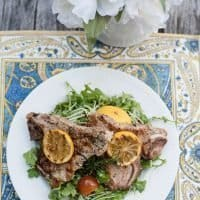 Pan Grilled Rosemary Veal Chops