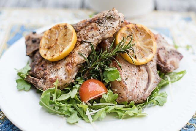 Best Grilled recipes - Grilled Rosemary Veal Chops