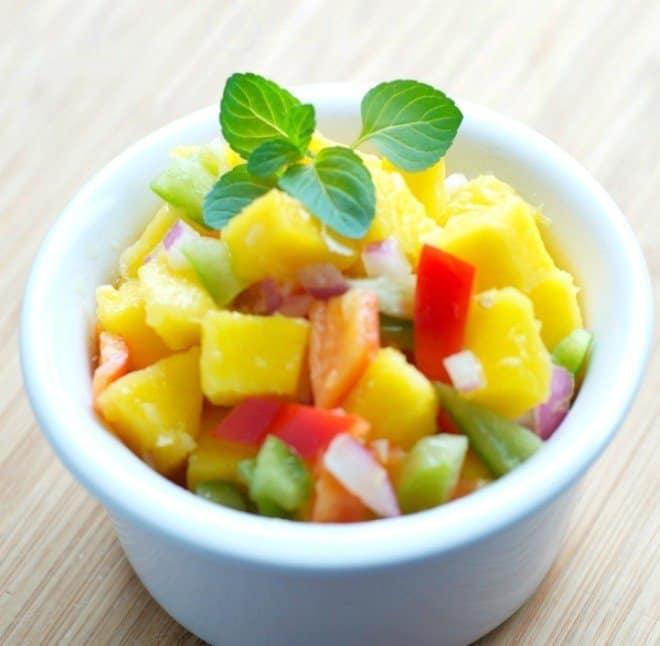 Mango Salsa - Tropical Pancake Rollup