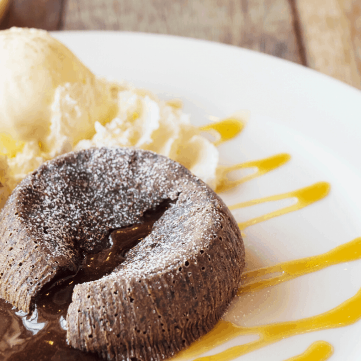 Mexican Lava Brownies And Dulce de Leche Ice Cream
