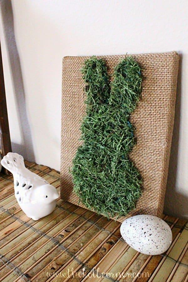 Happy Easter - Bunny Burlap Canvas