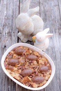 Chocolate Praline Bread Pudding