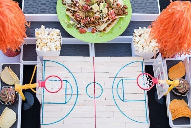 Basketball Court - Sour Cream and Onion Loaded Nachos
