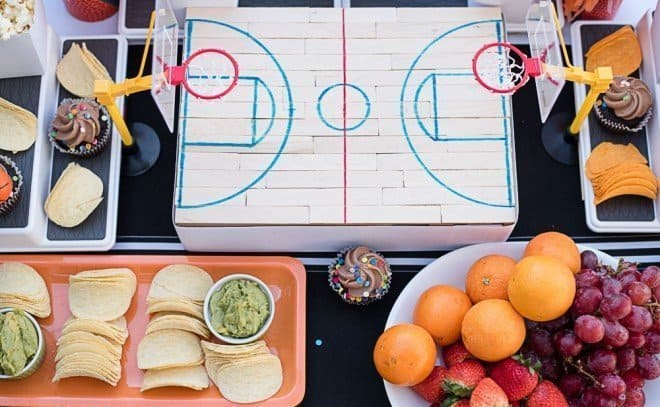 Sour Cream and Onion Loaded Nachos - Basketball Court