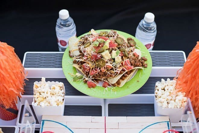 Loaded Sour Cream and Onion Nachos - Basketball Party