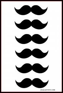 Mustache Free Printable
