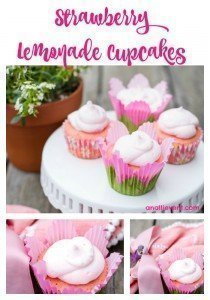 Strawberry Cupcakes with Strawberry Lemonade Frosting