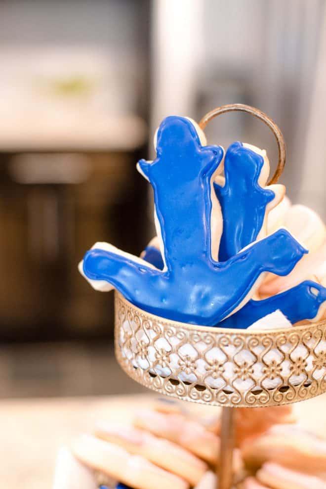 Anchor & Heart Sugar Cookies - Nautical Themed Bridal Shower