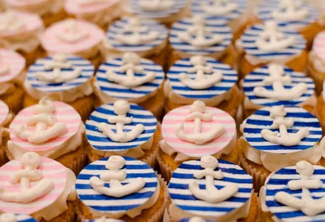 Cupcakes by Cake Creations - Nautical Themed Bridal Shower