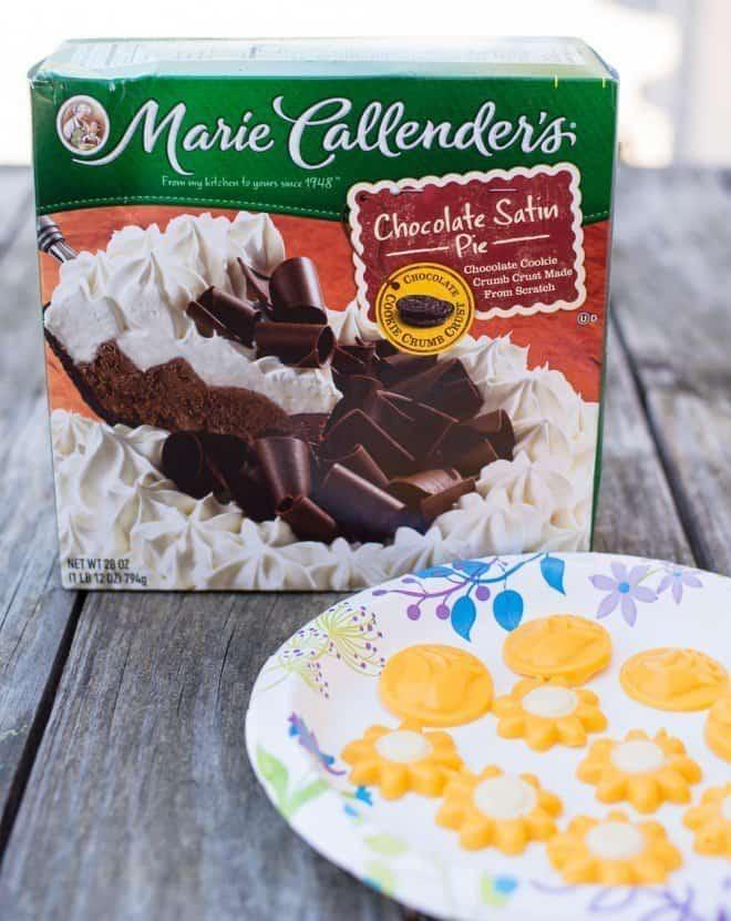Marie Callender's Chocolate Satin Pie with Chocolate Flowers