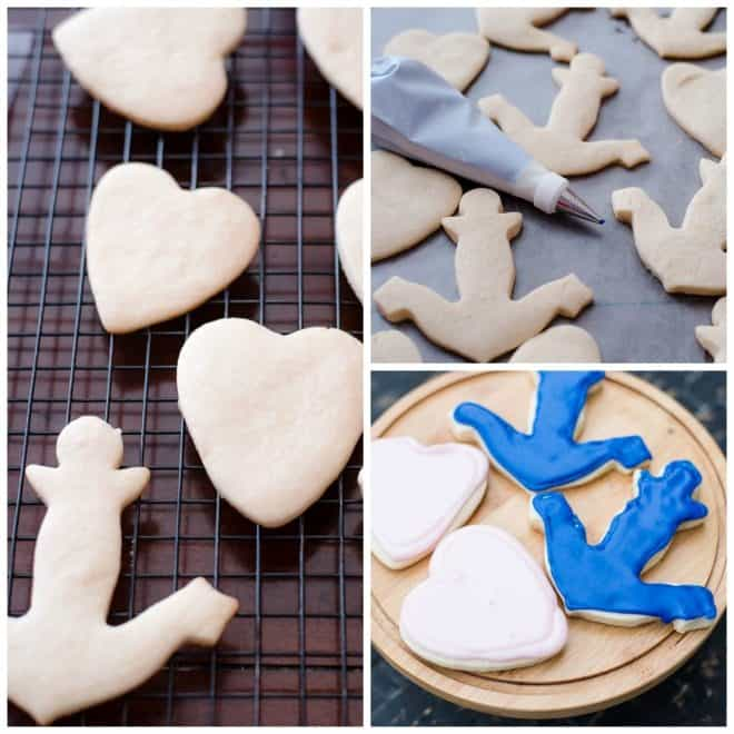 decorating sugar cookies nautical themed bridal shower