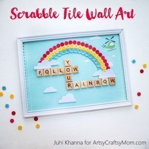 DIY Scrabble Tile Artwork - Chitchat and DIY Sunday Showcase 04.17