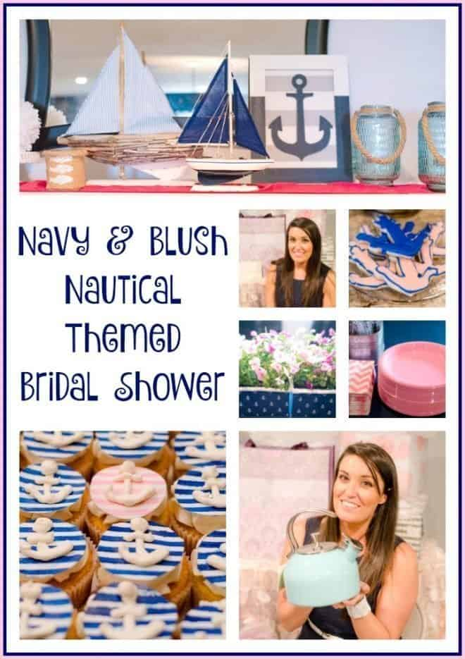 Navy and Blush Nautical Themed Bridal Shower