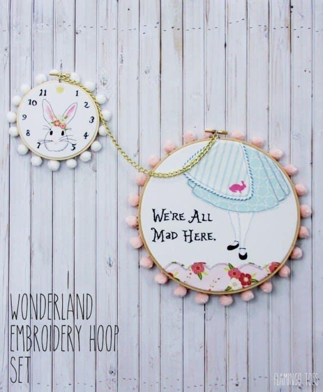 Wonderland Embroidery Hoop - DIY Sunday Showcase 04.03