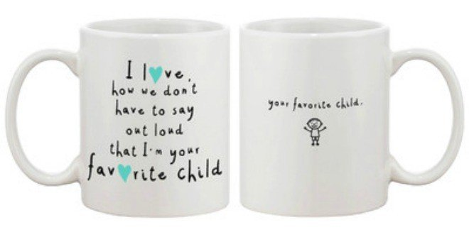 Favorite Child Mug - Mother's Day Gift Ideas