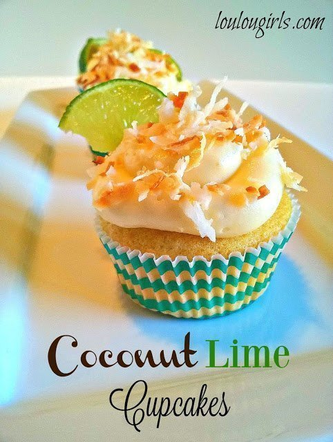 Coconut Lime Cupcakes - A Favorite at the DIY Sunday Showcase 05.01