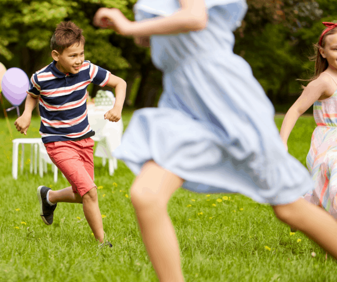 Kids Playing Freeze Tag - Childhood Games That Never Grow Old