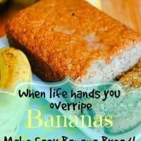 Easy, Moist Banana Bread