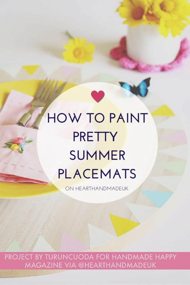How to Paint Summer Placemats