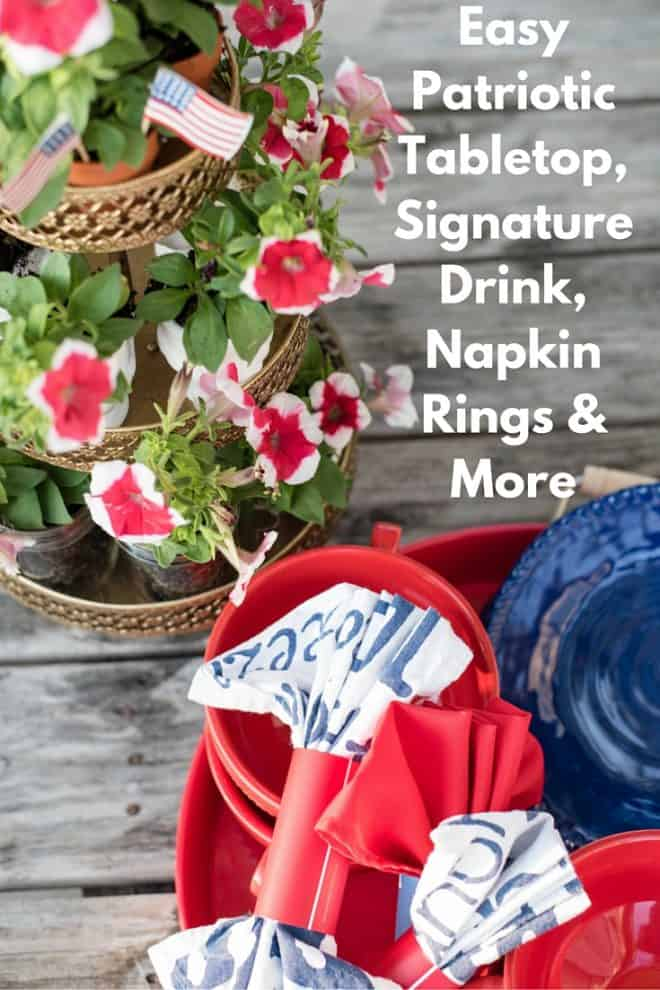 DIY Rustic Cupcake Stand and Patriotic Tabletop