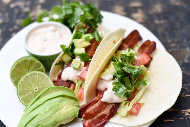 BLT Tacos with Chipotle Mayo