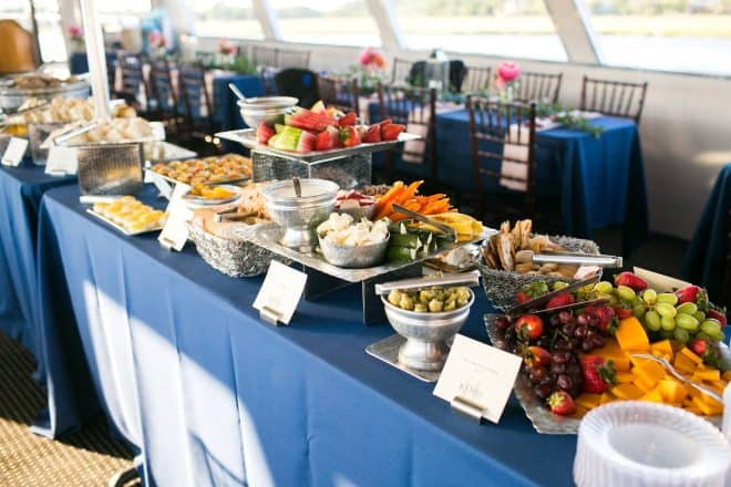 Nautical Wedding Food