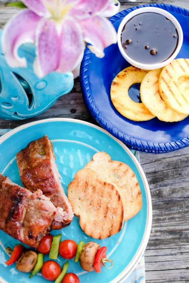 Grilled Ribs with Tropical Basting Sauce