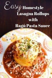 Homemade Lasagna Rollups