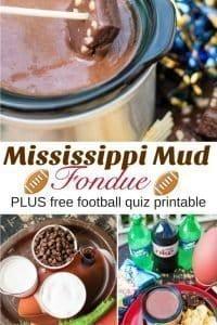 Mississippi Mud Fondue and Fall Football Quiz