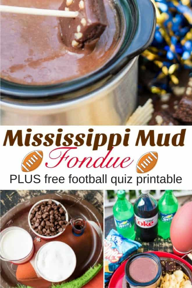 Looking for something different to serve at your next tailgating party? My Mississippi Mud Fondue is requested time and time again by my family and friends. It's easy to make and only requires 4 ingredients.