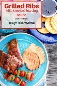 You'll think you've escaped to a tropical island when you taste my grilled ribs with tropical basting sauce. Come see how easy it is to grill ribs. #HogWildThrowdown #ad