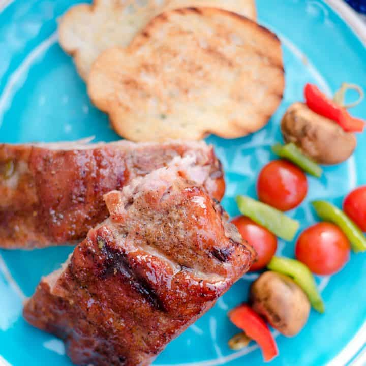 Grilled Ribs with Tropical Rub and Basting Sauce