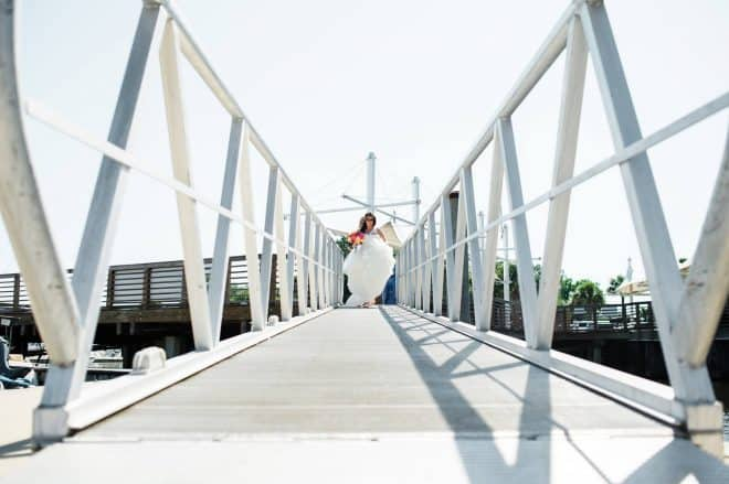 Nautical Wedding - Walking down the pier