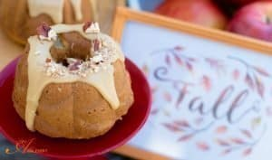Apple Bundt Cake with Praline Frosting