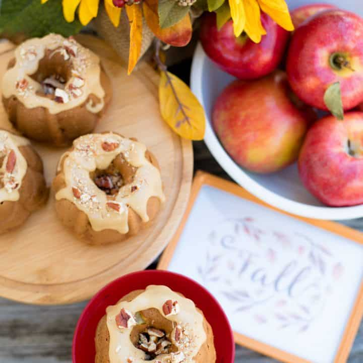 Apple Bundt Cake with Praline Frosting
