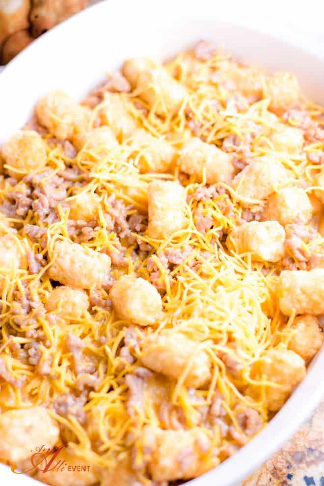 Steps to Making Cheesy Egg Roll Bake
