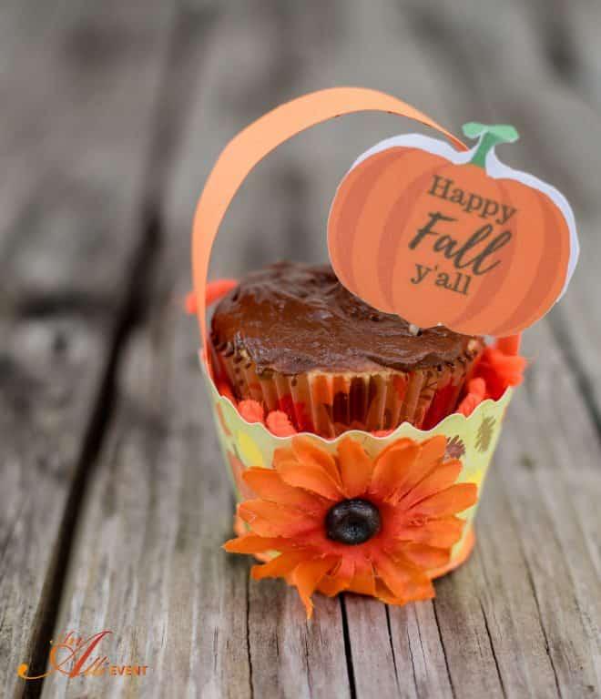 Happy Fall Y'all! Fall Cupcake Baskets