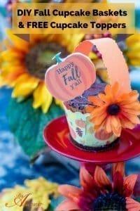 DIY Fall Cupcake Baskets and Free Printable