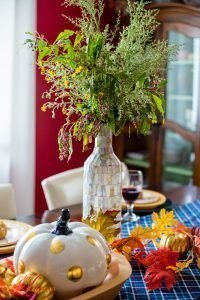 Vase full of Wild Flowers - Fall Home Tour