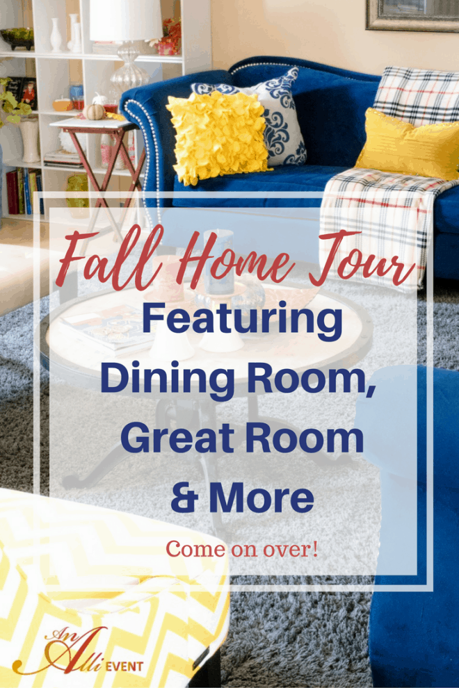 Welcome to my 1st ever fall home tour! I've got my dining room table dolled up for fall. I've also added touches of fall to my great room and my buffet is loaded with fall cookies and caramel apples. Come on over! #MyReason #ad